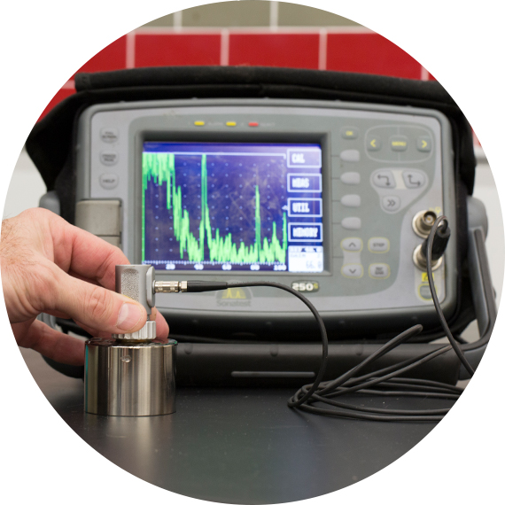 Ultrasonic Testing equipment used by titan metallurgists.