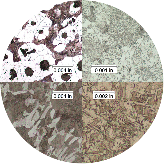 Comparing different gradients analyzed by microstructure tool.