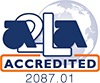 American Association of Laboratory Accreditation logo.