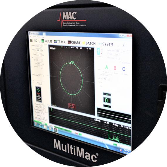 Electromagnetic testing program used by Titan Metallurgy.