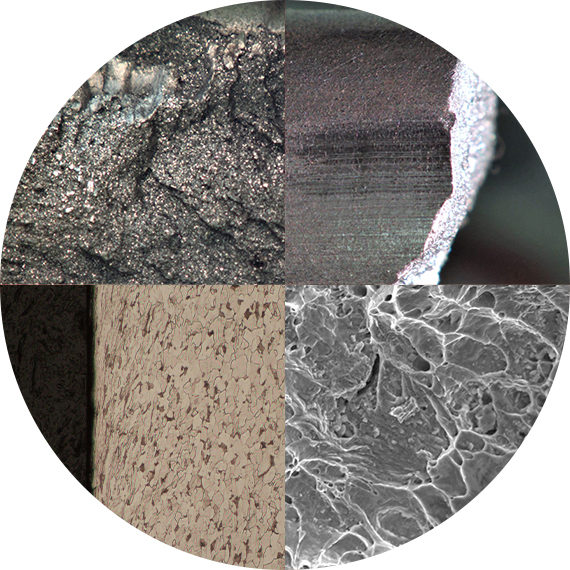 Image of the variety of metals that Titan Metallurgy performs failure analysis on.