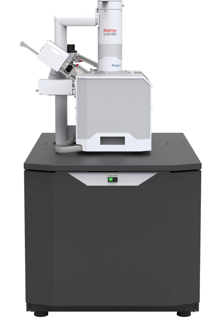 Image of SEM (Scanning Electron Microscope) with EDS (electron dispersive spectroscopy).
